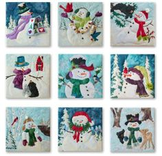 SNOW BUDS by McKenna Ryan Snowman Complete 10 Pattern Set NEW FREE SHIPPING!