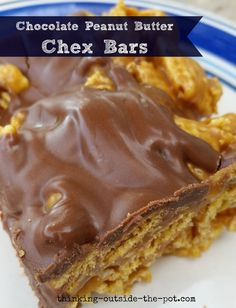 Chocolate Peanut Butter Chex Bars