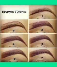 This is exactly what I follow to do my eyebrows. I try to outline very soft and light, just so it can guide me when using the shadow inside.