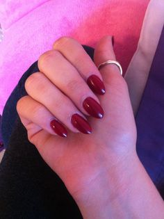Lovin my new blood red almond nails!