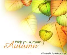 Happy Autumn..