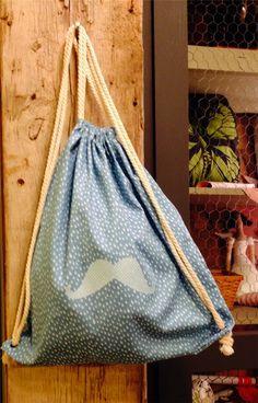 Paso a paso para hacer esta mochila perfecta para el cole o para llevar prendas pequeñas