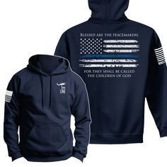 Nine Line Apparel - Hoodie - Thin Blue Line, $41.99 (http://www.ninelineapparel.com/hoodie-thin-blue-line/)