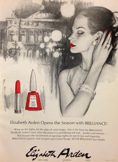 Elizabeth Arden 'Brilliance' Lipstick & Nail Lacquer Ad, 1965