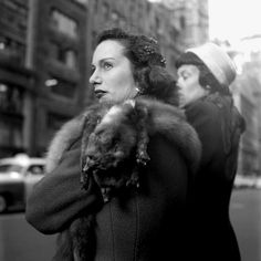 Vintage street style shot by Vivien Maier--read all about her at ELLE.com