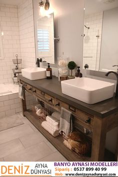 Simple Vanity Bathroom Remodel Restoration Hardware Hack Mercantile Console Table Hacked Into A Double Vessel Sinks Faucet From Lowe S