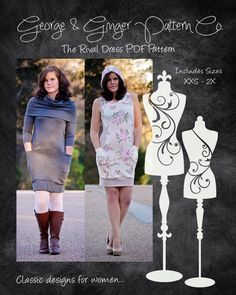 So many looks in one pattern with the Rival Dress! This comfortable, sporty design is perfect for every day! Four sleeve lengths options (including sleeveless), pockets...PLUS three necklines (basic, hood and cowl) to choose from! It's easy to customize this top to your style and taste! Make something fabulous for YOU! Suggested fabric for the dress is a 2-way or 4-way stretch knit with structure, such as ponte, Liverpool or French terry. However, any knit fabric, including cotton lycra or…