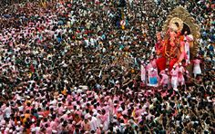 The great Ganesh Chaturthi parade.