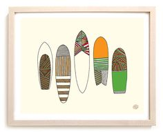 Limited Edition of 100 This special Limited Edition art print is a reproduction of Southern California artist Matthew Allen's surf art. The former Surfer Magazine Art Director is also the co-creator o