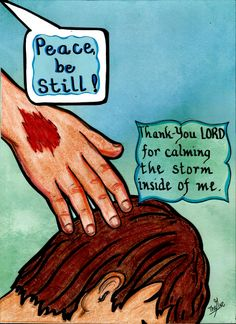 Thank You, Jesus, for calming the storm inside of me. www.facebook.com./TheGoodNewsCartoon