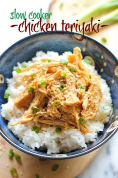 Slow Cooker Chicken Teriyaki - You can throw all of the ingredients in the crockpot in this no-fuss, super easy chicken teriyaki dish!