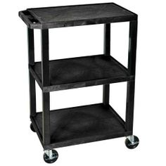 """LUXOR UTILITY CARTS by H.Wilson. $59.77. Utility Cart, Shelf Clearance 12"""", 200 lbs Capacity (evenly distributed), 18""""D x 24""""W, Gray, Utility cart with 4"""" swivel casters. Assembly required. Specify putty, gray or black color when ordering.. Save 50%!"""