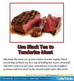 Food Preparation - Use Black Tea to Tenderize Meat