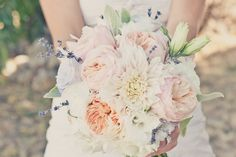 elegant real weddings lavender peach wedding colors romantic bridal bouquet