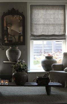 Pin by direct blinds and curtains on monochrome interior decor римские штор Interior Design Living Room, Living Room Decor, Living Spaces, Interior Decorating, Monochrome Interior, Curtains With Blinds, Home And Deco, Roman Shades, Home And Living