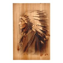 Chief Wood Panel Wall Hanging