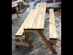 DIY Convertible Picnic Table that folds into bench seats - YouTube