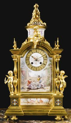 A Louis Xvi style gilt bronze and enamel decorated mantle clock  PARIS, last quarter 19th century firm of le roy ,et fils 1828-1898| Sotheby's