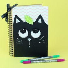 Tee itse hauska kissa-aiheinen muistikirja. Kissa, Notebook, The Notebook, Exercise Book, Scrapbooking