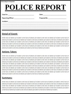 Police Report Template Police Incident Report Form By Gibboanseo Teaching Resources Tes, Police Report Template Police Incident Report Form By, Sample Police Report Template 6 Free Word Pdf Documents, Job Resume, Sample Resume, Incident Report Form, Letter Template Word, Word Templates, Letter Sample, Dream Meanings, Resume Words, Police Report