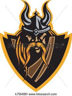 viking, mascotte, vecteur, graphique, à, h Voir Clipart Grand Format