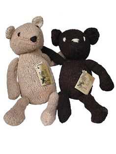 Kenana Knitters Teddy Bears. Fair Trade, pure wool and handmade, cant get beter than that!