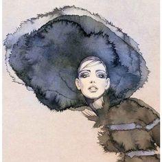Sandra Suy Fashion Illustrations ❤ liked on Polyvore featuring art, fashion illustration e illustration
