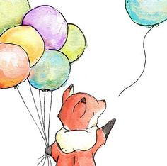 Love the colors of these balloons!