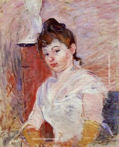 Berthe Morisot Young Girl in White, painting Authorized official website