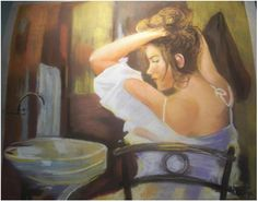 Joan Pauló - Pentinant-se - Peinándose - Combing