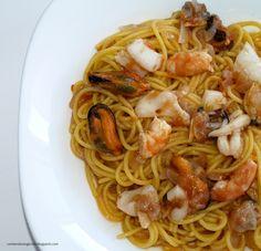 Espaguetti a la marinera #singluten via @Mónica Sin Gluten