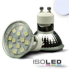 GU10 LED Strahler SMD12, 1,5 Watt, kaltweiss / LED24-LED Shop