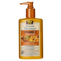 Avalon Organics Vitamin C Hydrating Cleansing Milk Ounce 3 per Case. Best Cleansing Milk, Cleansing Gel, Avalon Organics, Organic Vitamins, Organic Shampoo, Vegetable Glycerin, Face Cleanser, Health Facts, Vitamin C