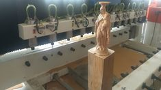 This video shows our 12 heads CNC router machhine for carving wooden buddha statue. 4 axis 12 heads CNC router is mainly used for carving on staircase stu. Wood Cnc Machine, Cnc Router Machine, Cnc Wood Router, Cnc Wood Carving, Wood Gifts, Popular Woodworking, Wood Furniture, Wood Art, Woodworking Projects