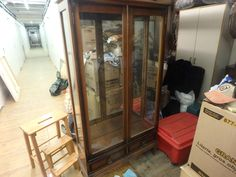 The storage unit that keeps on giving.  Love this curio cabinet as it is a small depth making it a great size for today's condos.  Off to Millionaire's Daughter with this piece.