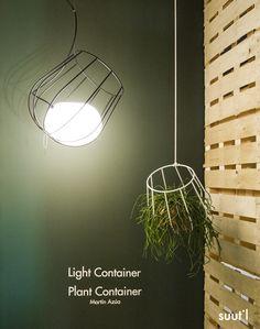 Light Container Y Plant Container Diseñado Por Martín Azúa Para Plussmi  (Massmi) En Feria