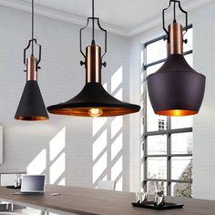 Retro Industrial Lighting Pendant Light Black Metal Bar Cafe Loft Style - New #RetroIndustrialLightingUS #Antique