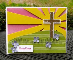 Krystal's Cards: Stampin' Up! Sunburst Blessed by God Easter #stampinup #krystals_cards #eastercard