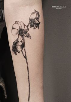 #dotwork #flowerillustration #tattoo #tattooflower #darktattoo