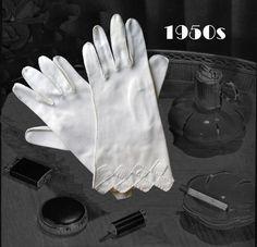 50s Vintage Ivory Gloves Cover Wrist, Retro Cotton Glove Set, Mid Century Fashion Accessory, Retro High Tea 50s Vintage, Vintage Silver, 50s Rockabilly, Cotton Gloves, High Tea, Fabric Scraps, Retro, Gift For Lover, Diamond Shapes