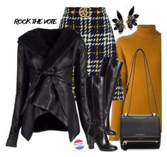 """Rock the Vote in Style"" by esch103 ❤ liked on Polyvore featuring Marni, Chloé, Gucci, Brooks Brothers, Rick Owens, Givenchy and rockthevote"
