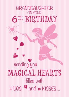 Fairies and Magic Birthday Card with your own Handwriting. Sandra Rose Designs for Signed - Card No. Happy Birthday Baby Girl, Daughter Birthday Cards, Birthday Girl Quotes, Birthday Card Sayings, Birthday Wishes Quotes, Magic Birthday, Fairy Birthday, 9th Birthday, Birthday Ideas