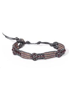 Chan Luu Garnet and Gunmetal 3 Row Bracelet | South Moon Under