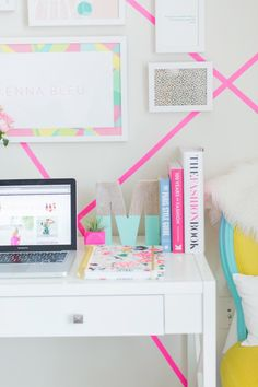 Colorful Office decor