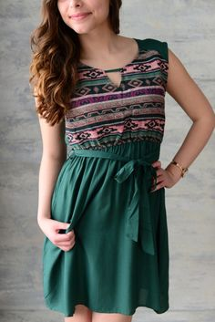 Piace Boutique - Think Outside the Box Dress - Green, $42.99 (http://www.piaceboutique.com/think-outside-the-box-dress-green/)