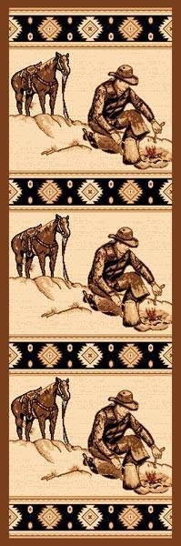 """Campfire'"" Western Area Area Rug (5 Sizes Available)"