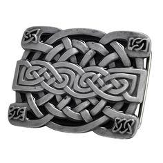 Celtic Cross and Knot Belt Buckle Bronze