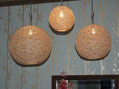 56 new ideas diy lamp shade hanging lanterns Diy Chandelier, Chandeliers, Sisal, Diy Pendant Light, Pendant Lamps, Pendant Lights, Diy Light Fixtures, Crafts For Teens To Make, Cool Lighting