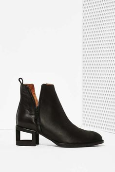 JEFFREY CAMPBELL          Boone Leather Bootie - Blackout