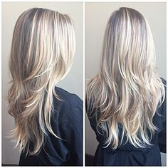 This is how my hair looks now but dark brown instead of blonde! LOVE layers!!!!!